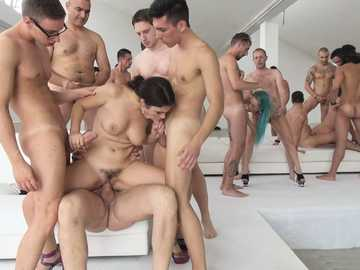Orgy with models Valentina E, Nataly Gold, Vesna, Valentina Nappi, Mary Rider, Luna Dark and La Miki
