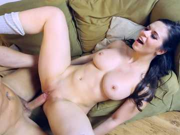 Busty stepdaughter Nekane Sweet catches her stepfather jerking off to porn