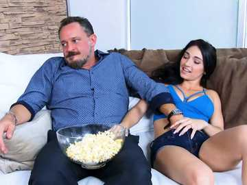 Cyrstal Rae accidentally seduces her friend's dad and goes balls licking
